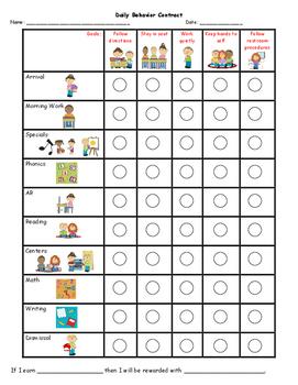 Personalized Behavior Chart T Gnivecki