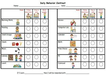 Personalized Behavior Chart for Amy