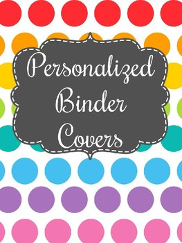 Personalized Binder Covers