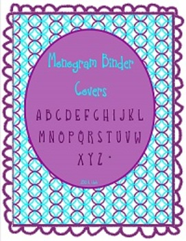 Personalized Binder Covers - Monograms for binders, banners, decoration