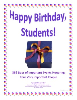 Personalized Birthday Greetings Historical Facts
