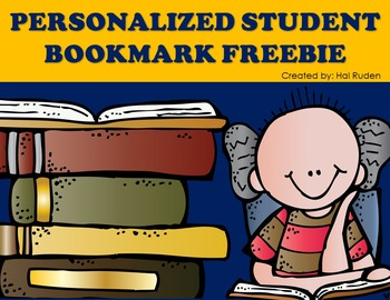 Personalized Bookmark Freebie