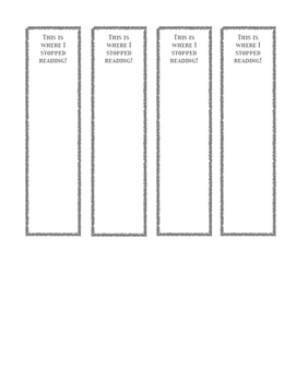 Personalized Bookmark Template