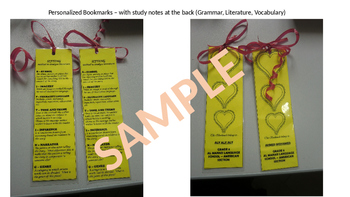 Study Tool - Personalized Bookmarks