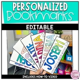 Personalized Bookmarks EDITABLE