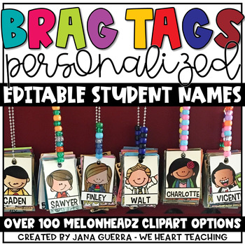 Personalized Brag Tags {Clip Art Style}