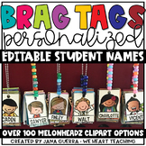Personalized Reward Tags {Clip Art Style} EDITABLE