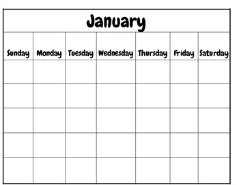 Personalized Calendar for all year, student calendar, Calendar recognition
