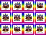 Personalized Calendar Birthday Inserts