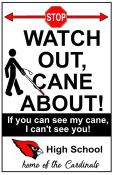 Personalized Cane User Awareness Poster