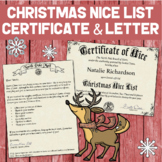 Personalized Christmas Letter & NICE LIST Certificate from Santa