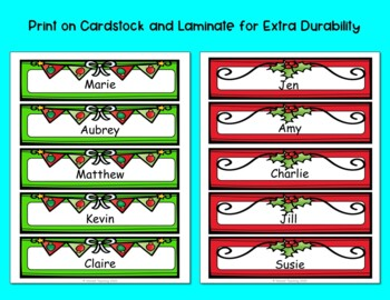 Personalized Christmas and Holiday Bookmarks- EDITABLE