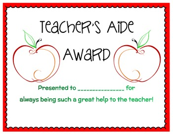 Personalized Classroom Award Certificates