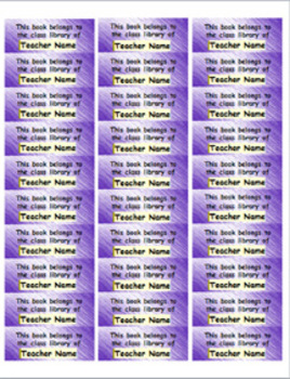 Personalized Classroom Library Book Labels - blue