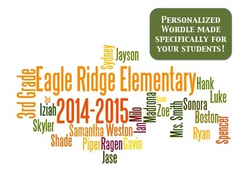 Personalized Classroom Wordle