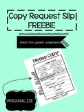 Personalized Copy Request Form
