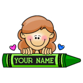 Personalized Crayon Graphic