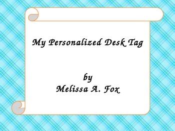 Personalized Desk Tags! Geared for the Common Core! Grade 3