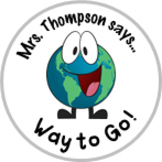 Earth Achievement Stickers Personalized For Your Class