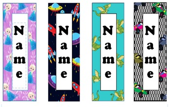 Personalized Editable Bookmarks - Valentines Day Gift