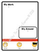 Student Whiteboards (write and wipe) w/Confidence Levels - Editable