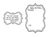 Personalized Elementary School Principal Birthday Card