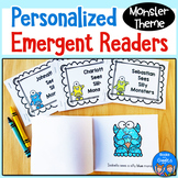 Personalized Emergent Readers - Monster Theme Name Books w