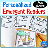 Personalized Emergent Readers - Zoo Theme Name Books