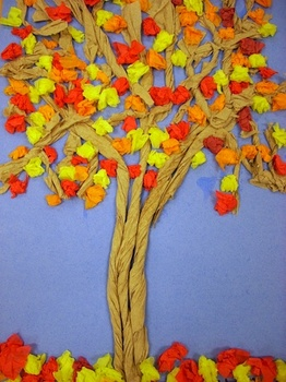 Personalized Fall Tree Craft