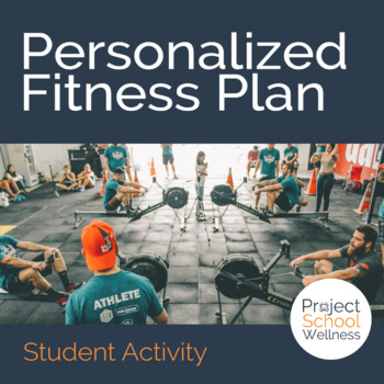 Personalized fitness plan template health pe fitness tpt for Fitness plan template weekly