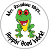 Frog Achievement Stickers Personalized For Your Class - Ca
