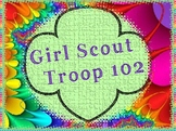 Personalized Girl Scout Troop Number Clipart