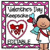 Valentine's Day Handprint Craft and Gift - Editable PDF Personalized with Name
