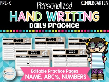 Personalized Handwriting Pages