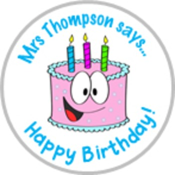 Happy Birthday Stickers - Personalized For Your Classroom