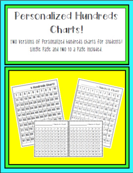 Personalized Hundreds Chart