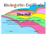 Personalized Graduation Certificates- Dr. Seuss Theme for Pre-K, K, 1st...