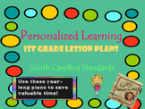 Personalized Learning First Grade Lesson Plans South Carolina Standards