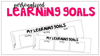 Personalized Learning Goal Bookmarks