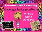 Personalized Learning Kindergarten Lesson Plans Virginia State Standards