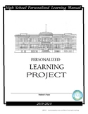 Personalized Learning Project (Cap Stone) (Senior Project)