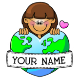 Personalized Love Earth Graphic