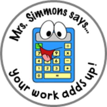 Math Calculator Achievement Stickers - Personalized For Yo