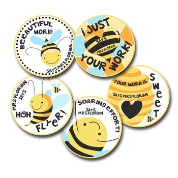 Personalized Merit Stickers - Beeautiful