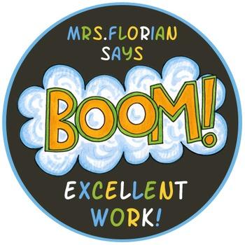 Personalized Merit Stickers - Comic Strip