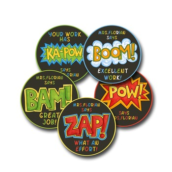 Personalized Merit Stickers - Comic Strip