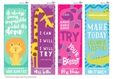 Personalized Motivational Bookmarks