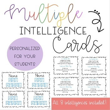 Personalized Multiple Intelligence Cards