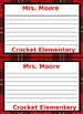 Personalized Note Paper - Editable