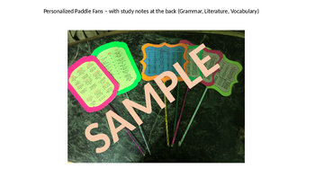Study Tool - Personalized Paddle Fans